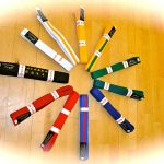 taekwondo coloured belt arrangement